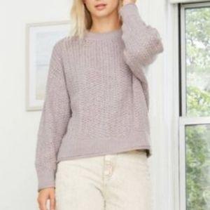 Universal Thread Heather Purple Chunky Knit Sweate